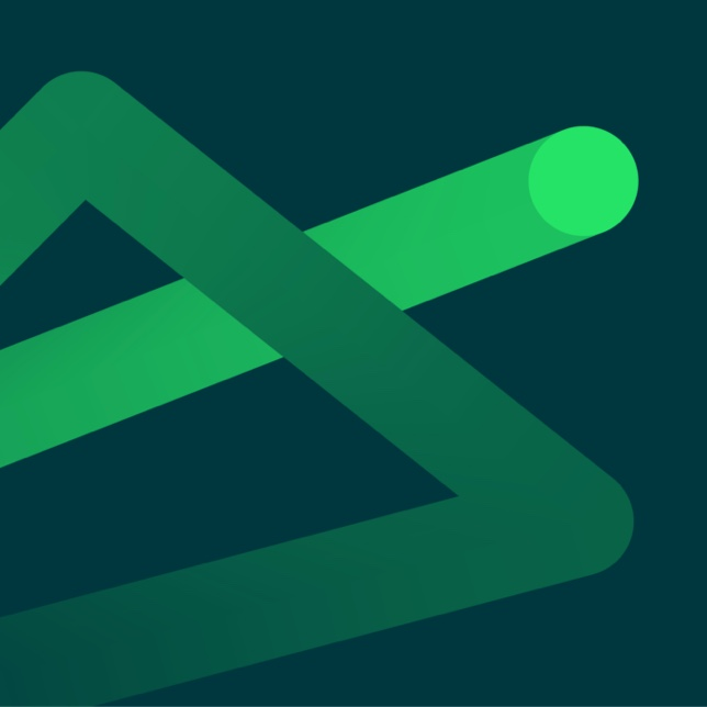 green swoosh graphic